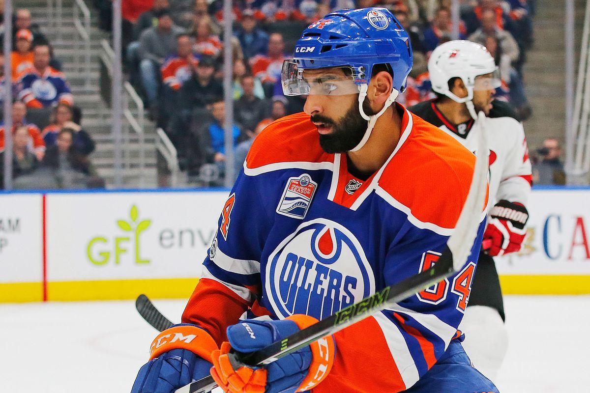 Jujhar Khaira scored his first NHL goal on Monday.