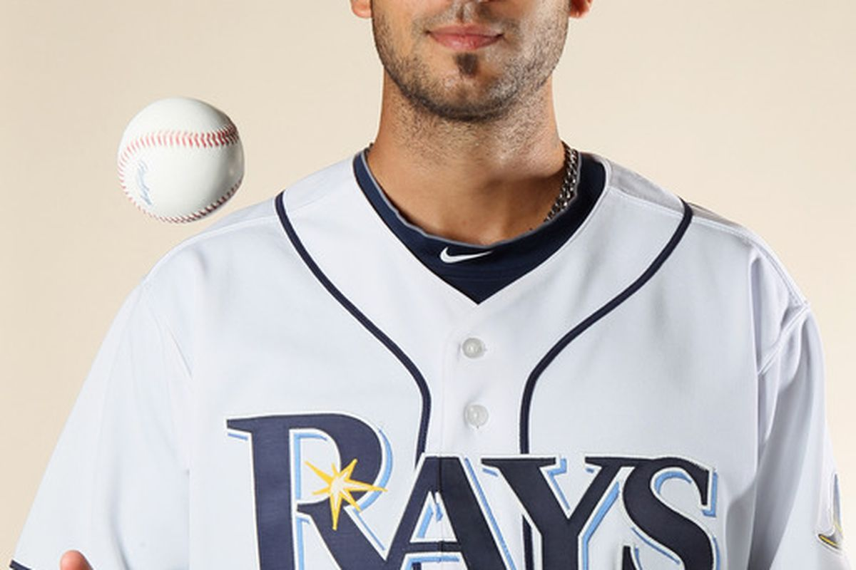 FT. MYERS FL - FEBRUARY 22:  Matt Bush #44 of the Tampa Bay Rays poses for a portrait during the Tampa Bay Rays Photo Day on February 22 2011 at the Charlotte Sports Complex in Port Charlotte Florida.  (Photo by Elsa/Getty Images)