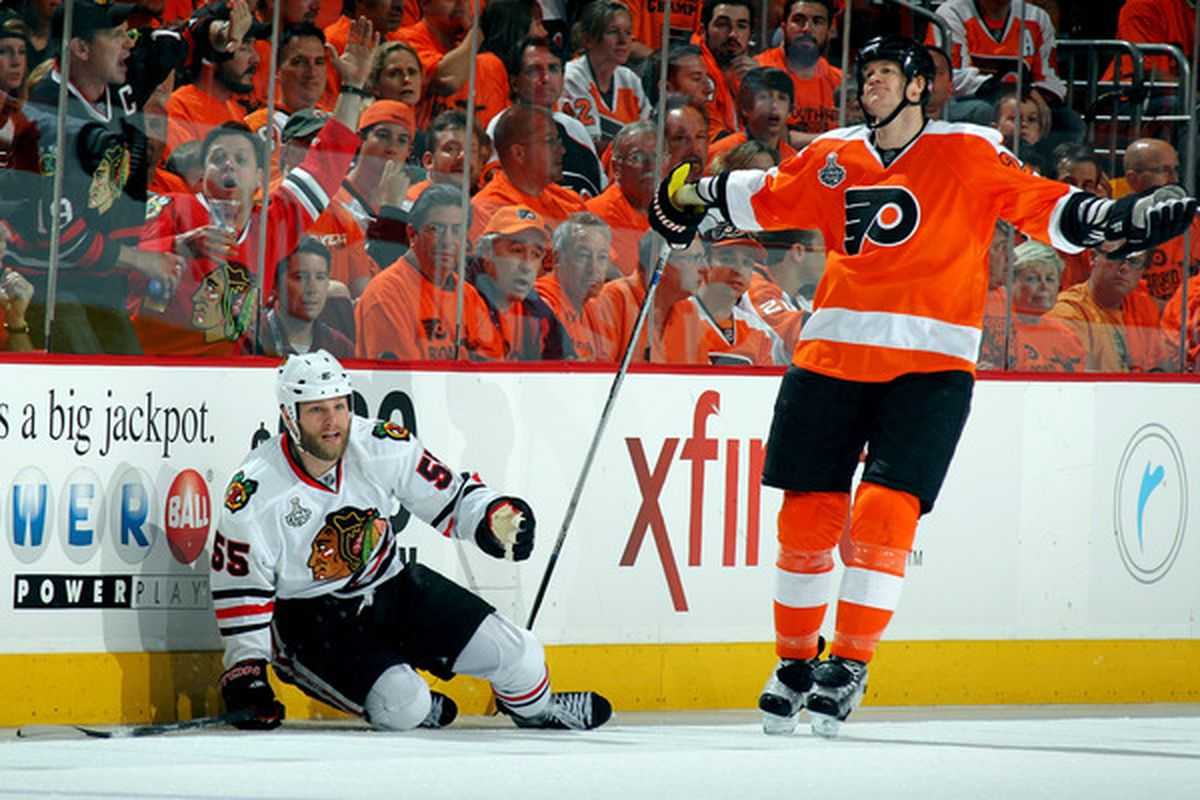 Chris Pronger out for the season  Crying and other initial reaction ... 1c6c6abcf