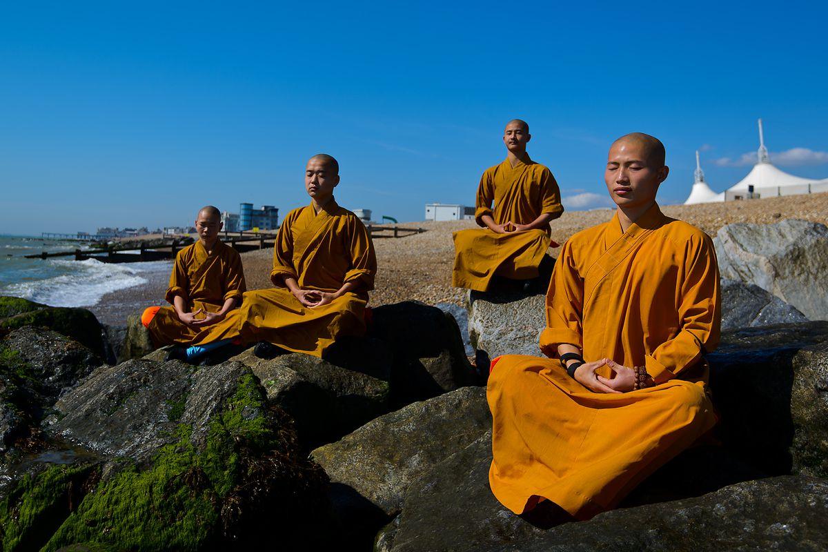 Shaolin Monks Rehearse Ahead Of Their New Show