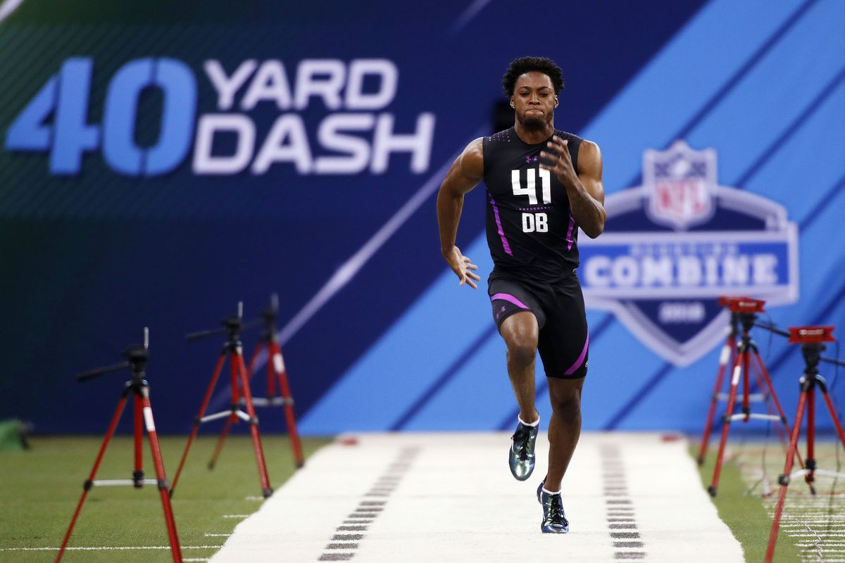 2018 NFL Combine: Running back and offensive line workout