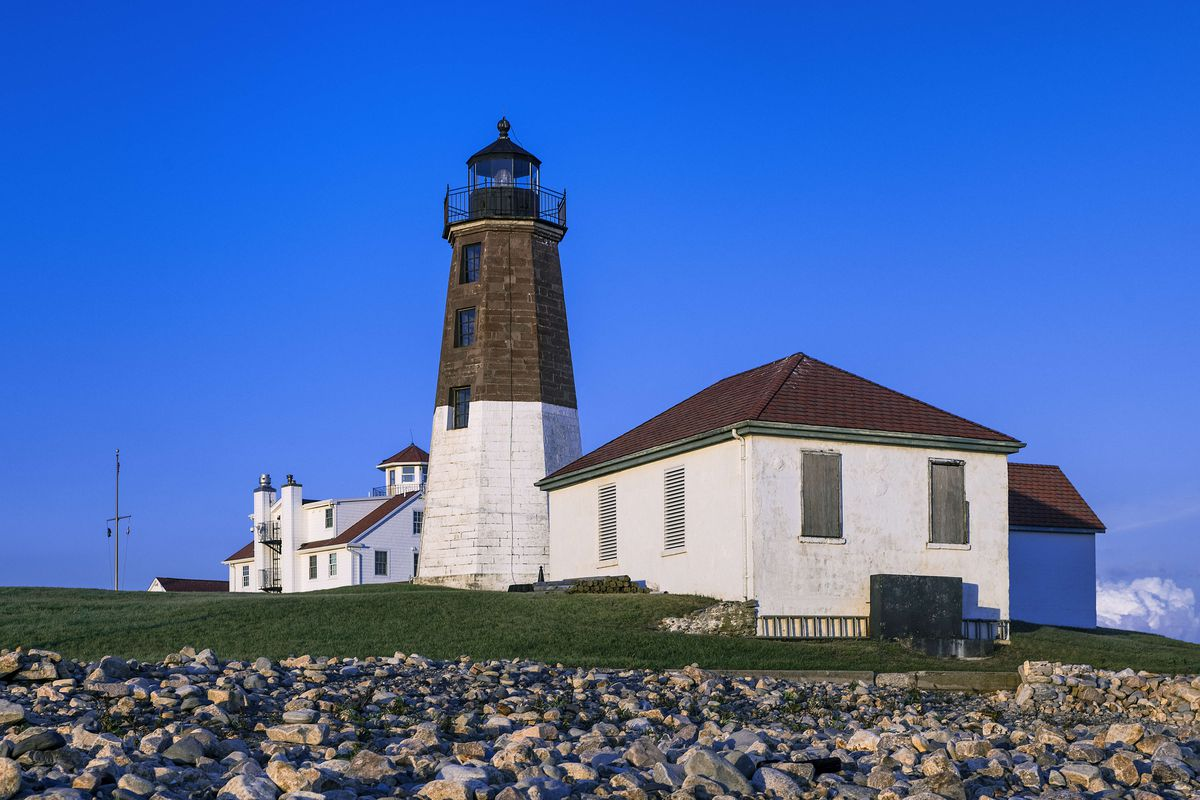 Judith Point Lighthouse and Coast Guard Station...