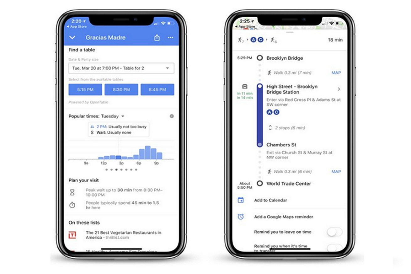google maps for ios now tells you how long restaurant wait times are