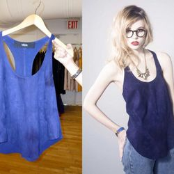 Kiss Top in Electric Blue, $350