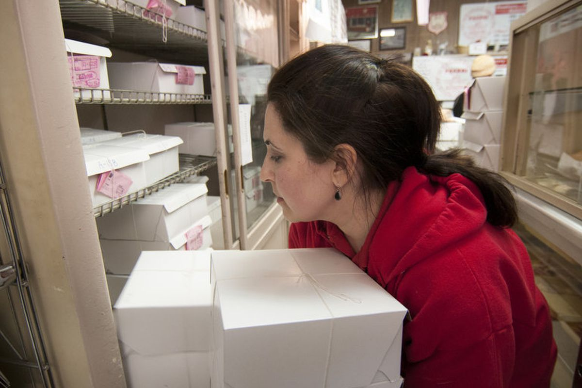 Suzy Ognanovich at New Palace Bakery in Hamtramck.