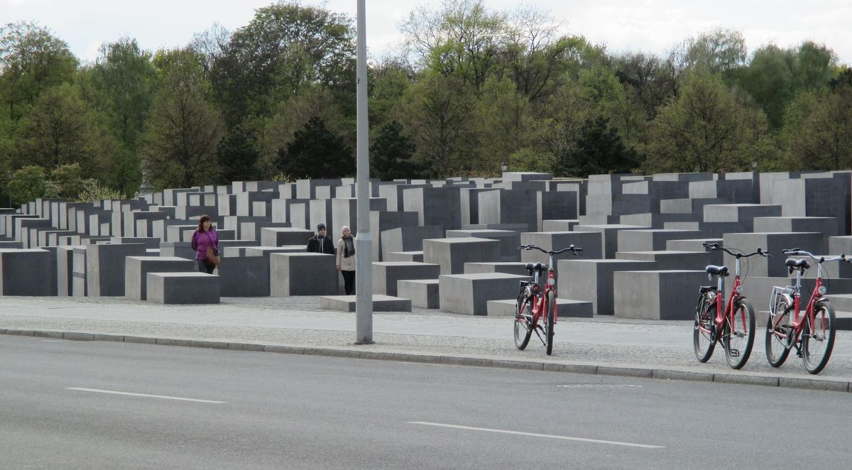 Berlin's most important public attempt to come to terms with the Holocaust is architect Peter Eisenman's Memorial to the Murdered Jews of Europe, also called the Field of Stelae (headstones). | Nancy Nathan for USA TODAY
