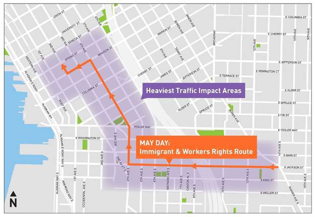 Seattle May Day 2018: March route, road closures, and what