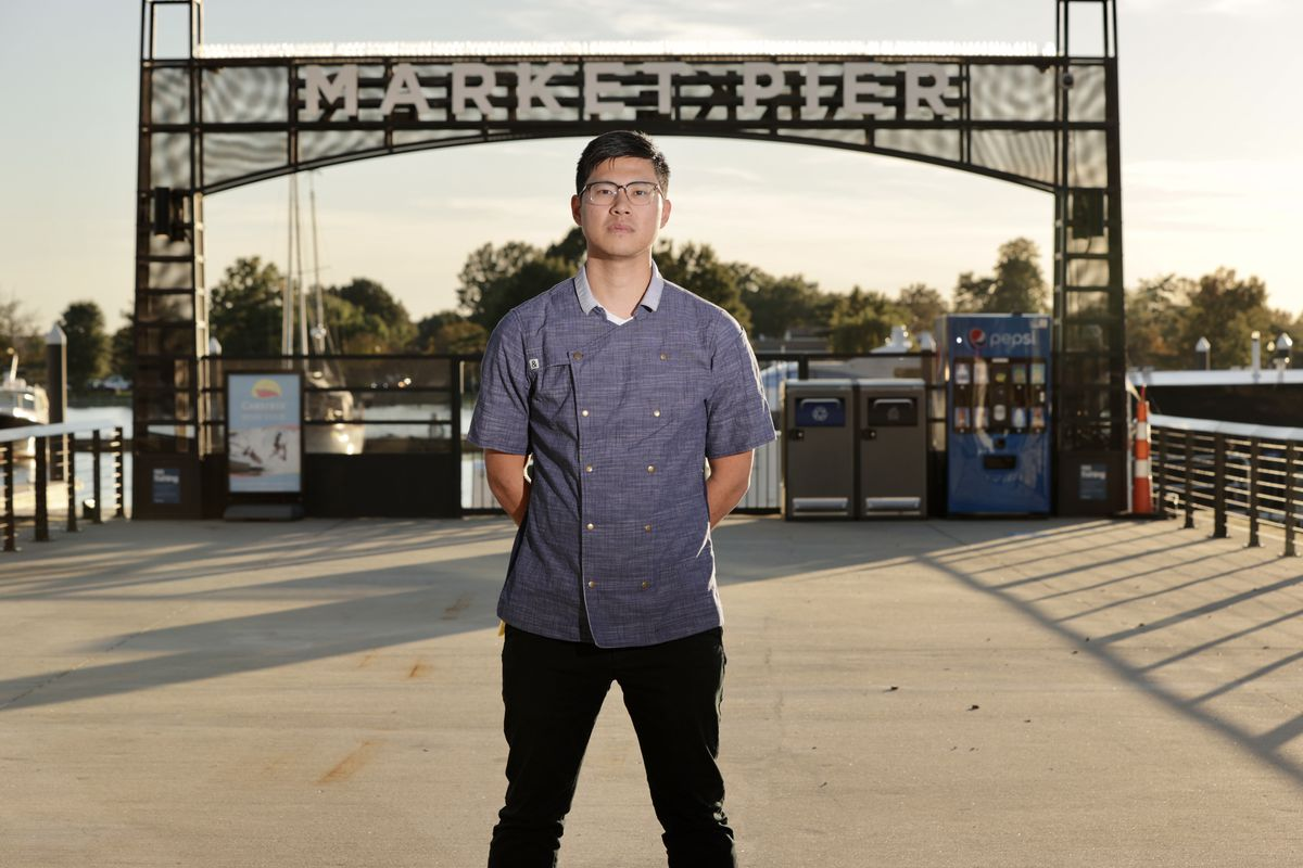 A portrait of Kevin Tien at the Wharf