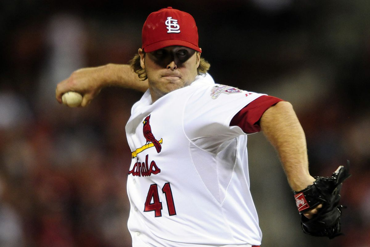 June 14, 2012; St. Louis, MO. USA; St. Louis Cardinals relief pitcher Mitchell Boggs (41) throws to a Chicago White Sox batter in the eighth inning at Busch Stadium. The Cardinals won 5-3. Mandatory Credit: Jeff Curry-US PRESSWIRE