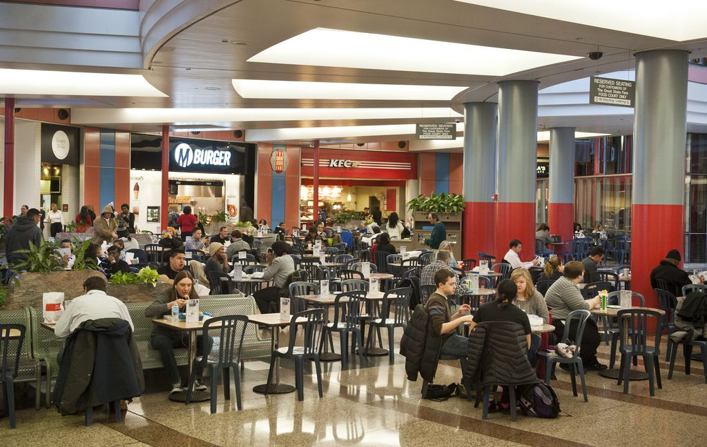 Food court in the Thompson Center in 2013. File Photo.