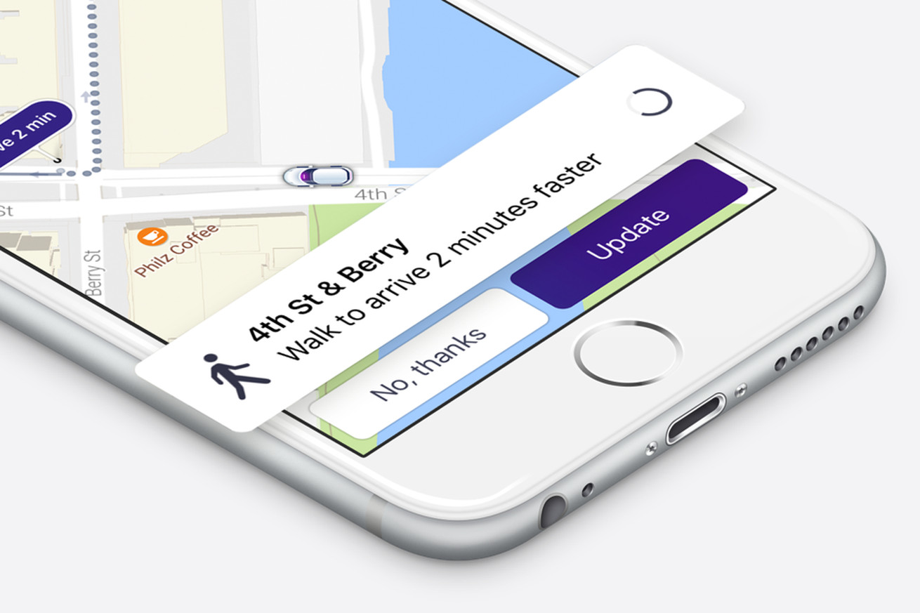 lyft is now suggesting more convenient pickup locations because a little walking won t kill you
