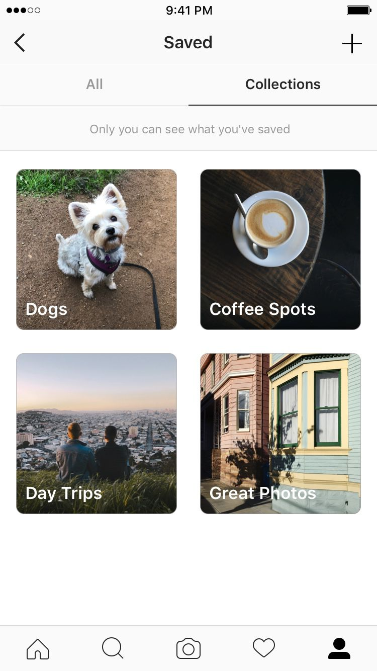 Instagram's saved posts can now be organized into Pinterest