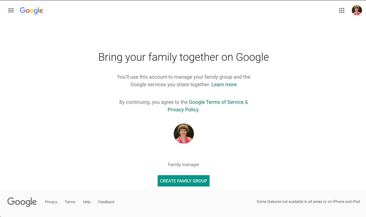 Để chia sẻ không gian lưu trữ, trước tiên bạn phải tạo một nhóm gia đình.