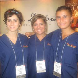 The Bone Doctors are actual orthopedic surgeons who had these lovely ladies don scrubs to sell their barbecue sauce.