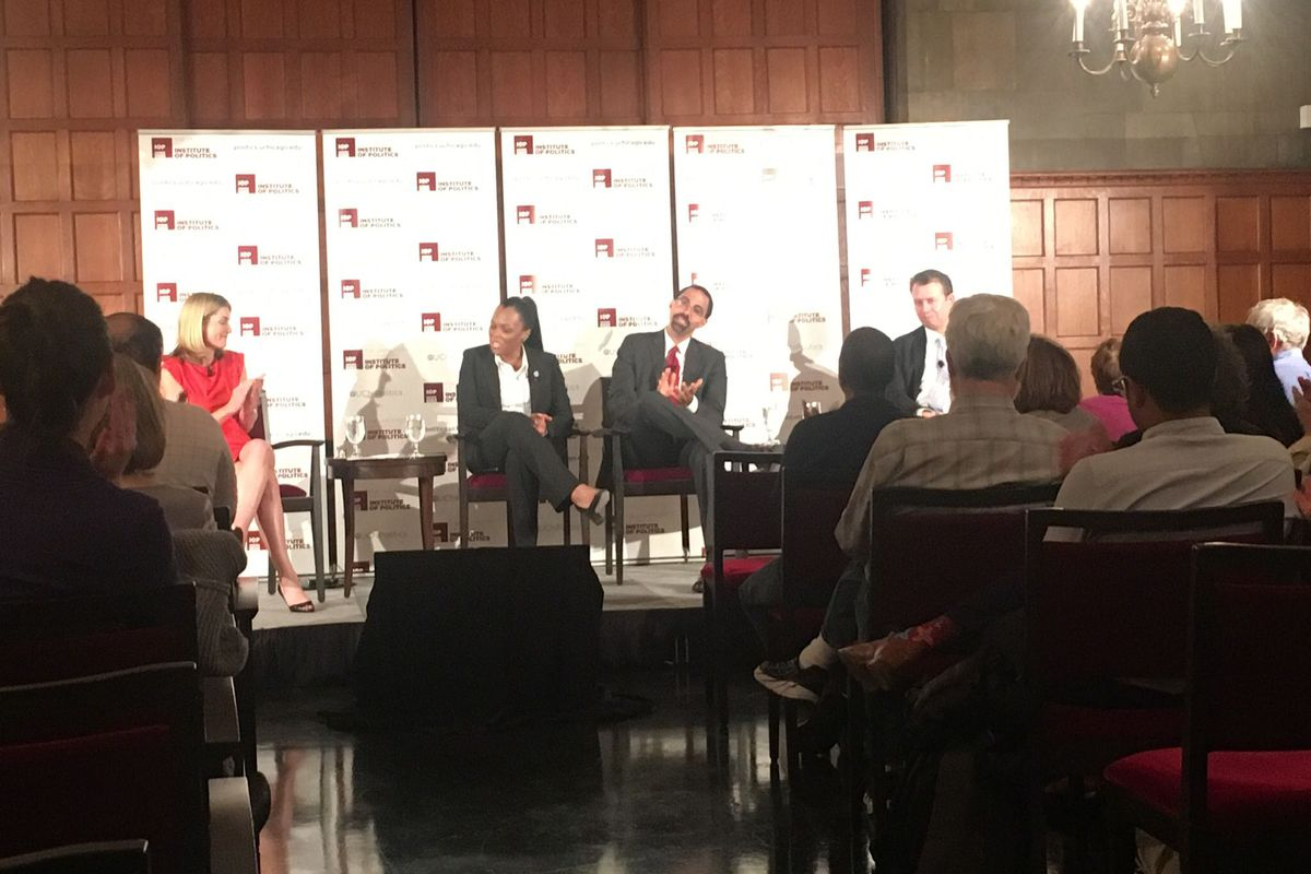 Janice Jackson appeared Monday at the University of Chicago's Institute of Politics, where she discussed the future of American schools on a panel with another Chicago Public Schools product, Pedro Martinez, superintendent of the San Antonio Independent School District.