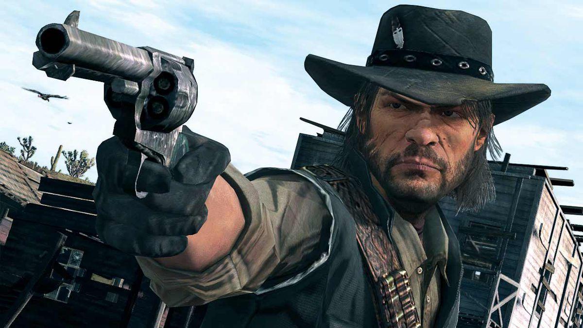 Red Dead Redemption - John Marston aiming revolver
