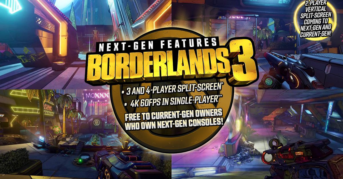 Borderlands 3 is getting a free PS5 and Xbox Series X upgrade — and four-player splitscreen – The Verge