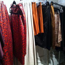 Christian Sirano metallic prints and leather shorts