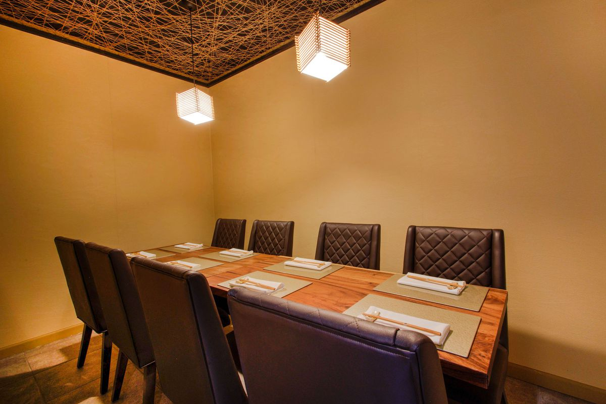 A private dining room at Kaiseki Yuzu