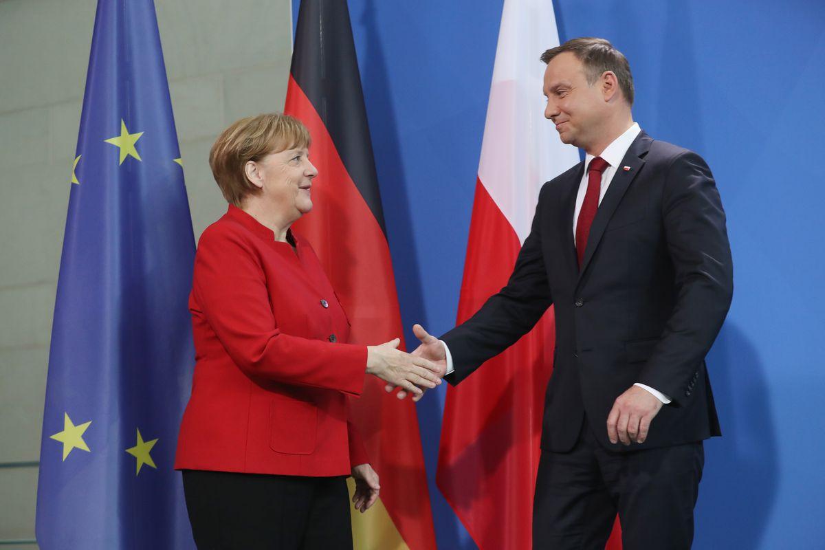 Merkel Meets With Polish President Duda