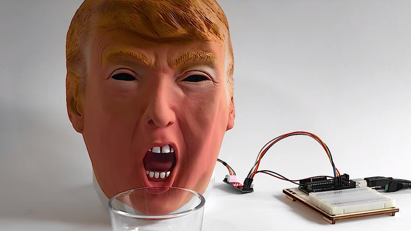 This Trump Robot Spits Ibuprofen Whenever The President Tweets