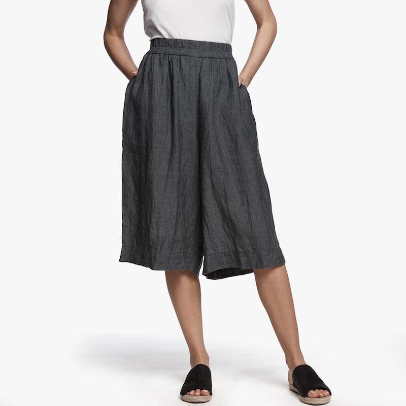 James Perse short linen culottes