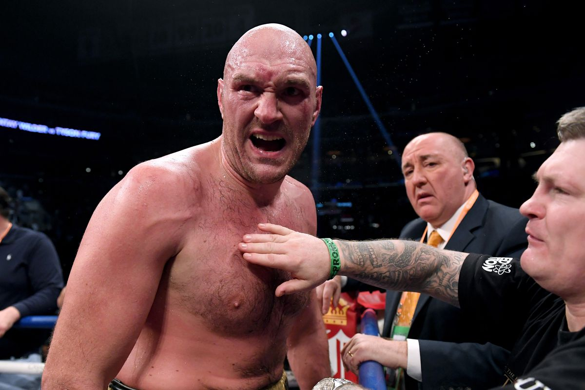 7611e5178626c Deontay Wilder and Tyson Fury call out  chicken  Anthony Joshua ...