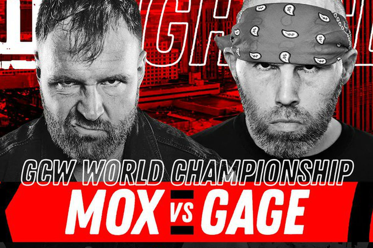 Match graphic for Jon Moxley vs. Nick Gage
