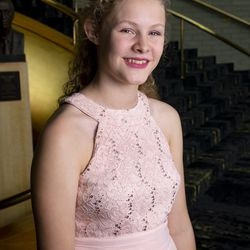 2019 Salute to Youth performer Dora Meiwes in Abravanel Hall in Salt Lake City on Friday, Aug. 9, 2019.