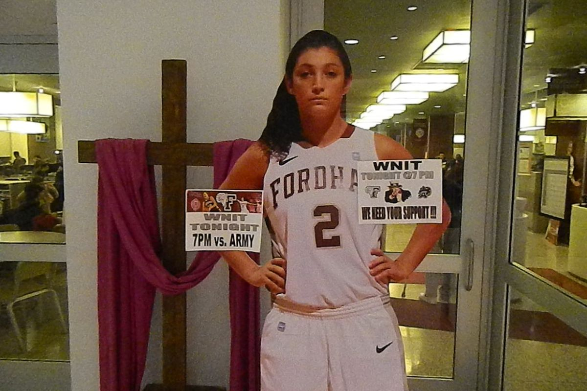 The Arielle Collins image that greeted visitors in the Rose Hill lobby.