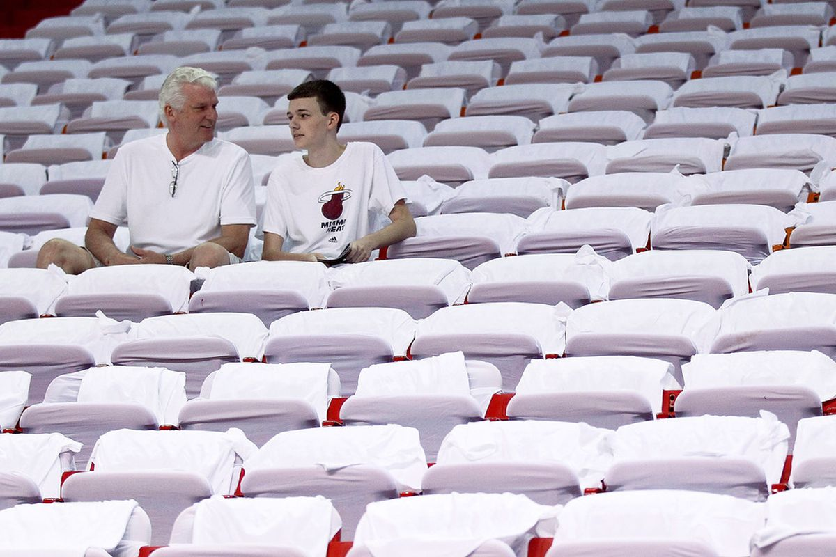 Heat fans came out in droves.  Diehards since 2010!