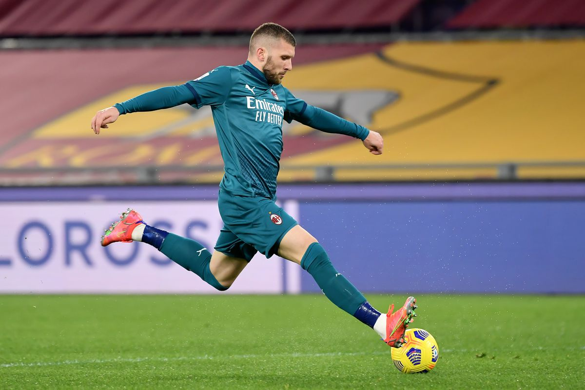 Ante Rebic of AC Milan in action during the Serie A football...
