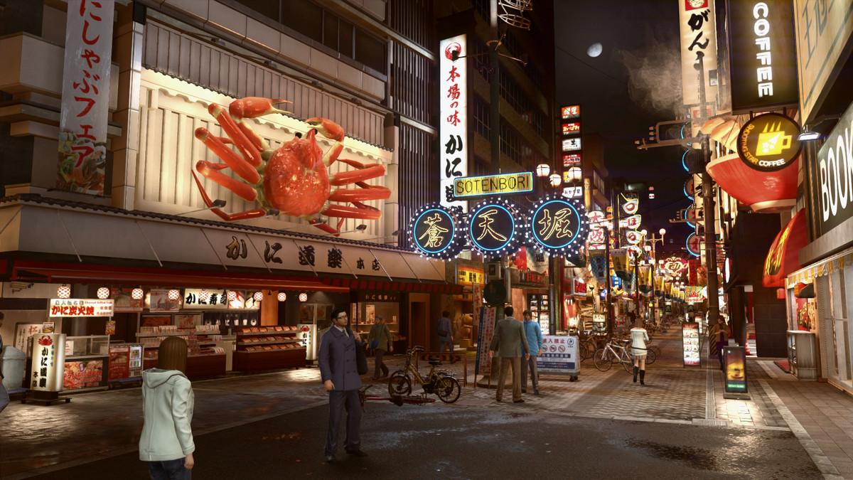 Yakuza - Sotenbori en la noche