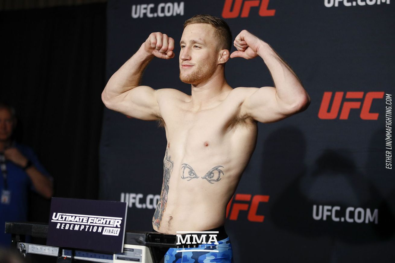 Justin Gaethje will try to make weight at UFC Vancouver weigh-ins Saturday.