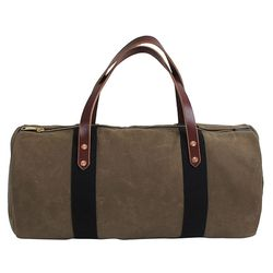 """<strong>Joshu+Vela</strong> Waxed Duffle in Tan, <a href=""""http://www.odinnewyork.com/search.asp?Mode=Product&Type=Shop&TypeID=57&ProductID=3440"""">$160</a> at Odin New York"""