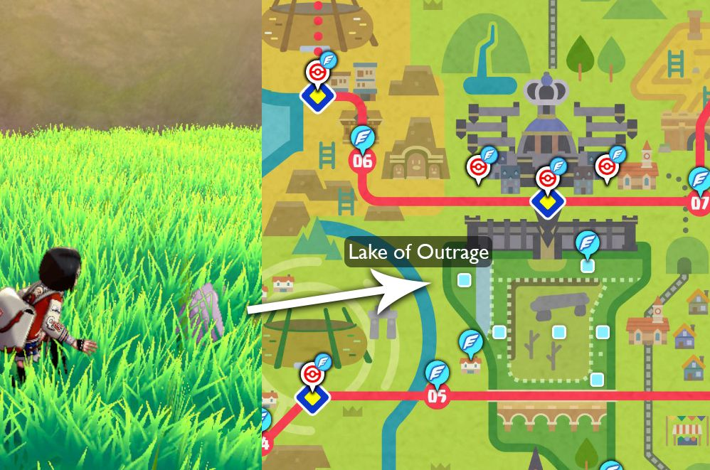 A map shows exactly where Ditto can be caught in Pokémon Sword and Shield