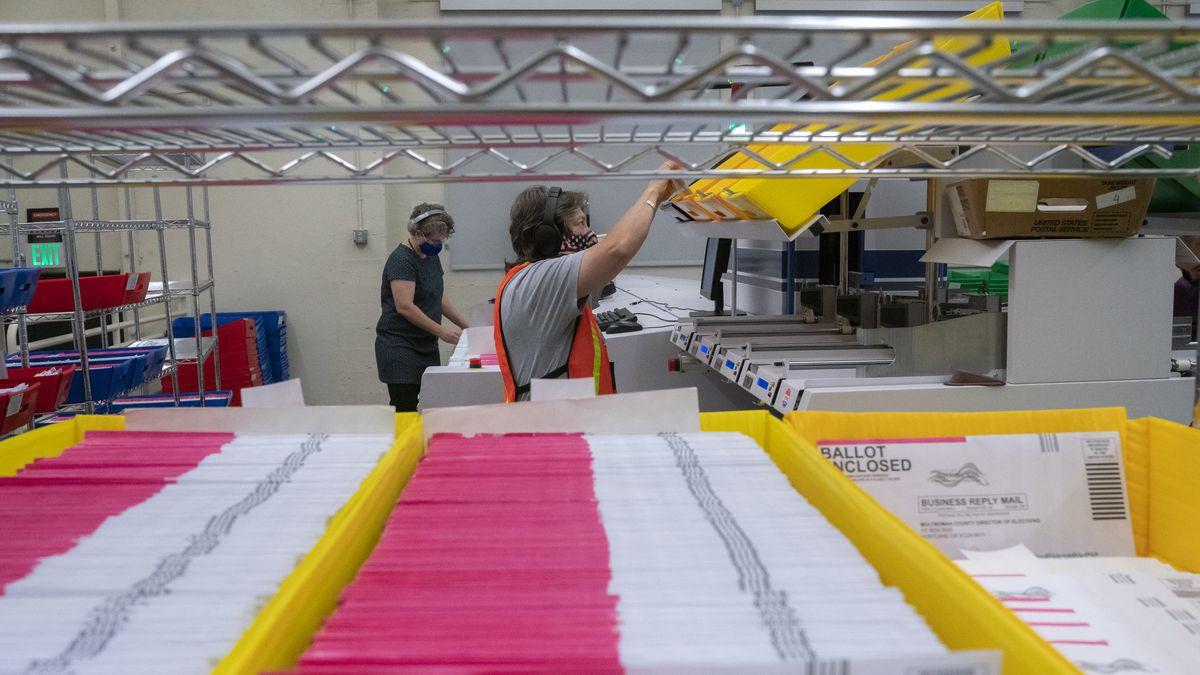 Election Officials Count Ballots In Portland, Oregon
