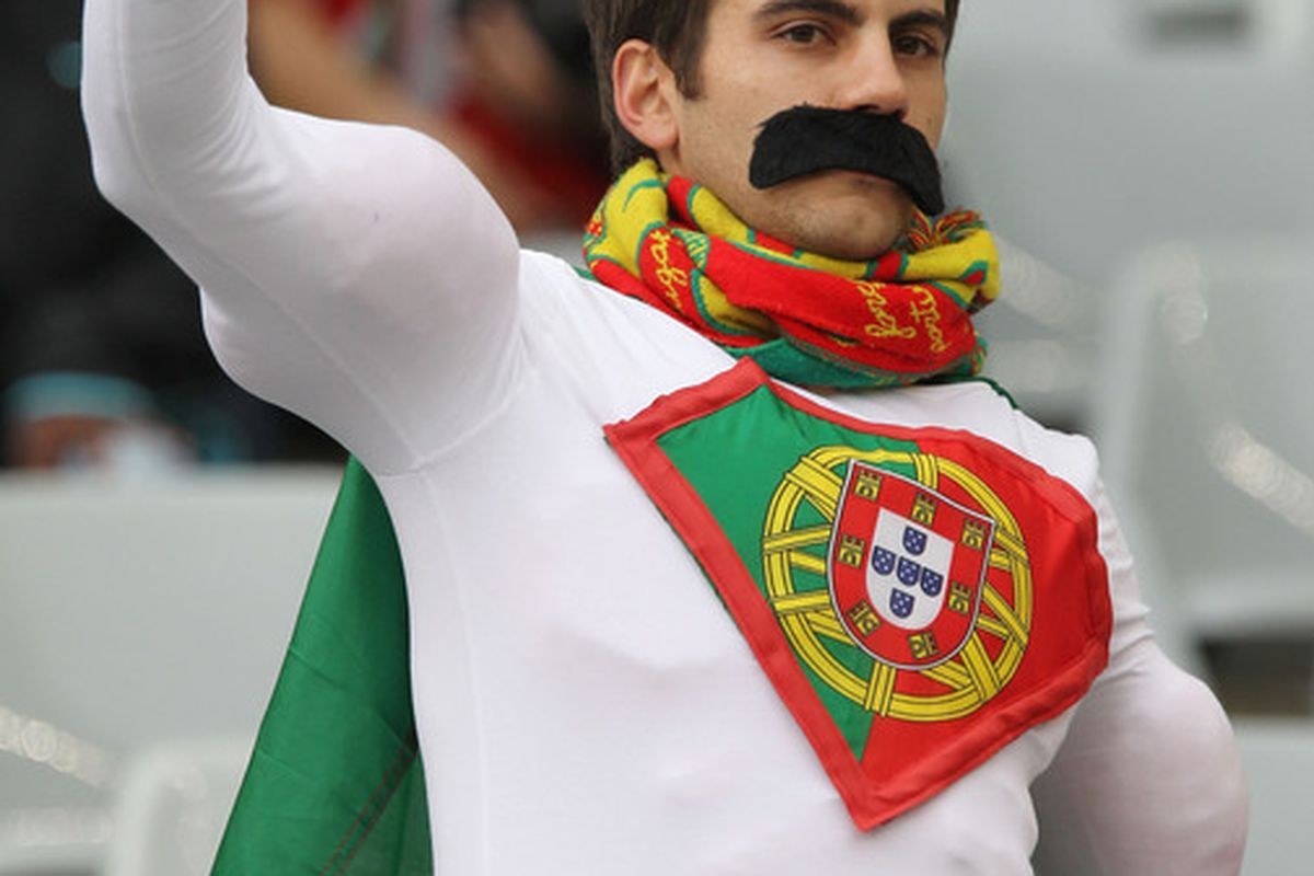 Captain Portugal is on their side; they cannot lose. (Photo by Doug Pensinger/Getty Images)