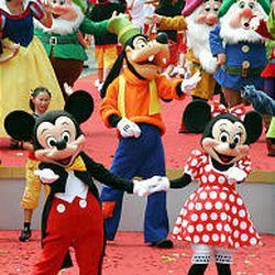 Disney characters perform during the grand opening of Hong Kong Disneyland on Sept. 12 in Hong Kong.