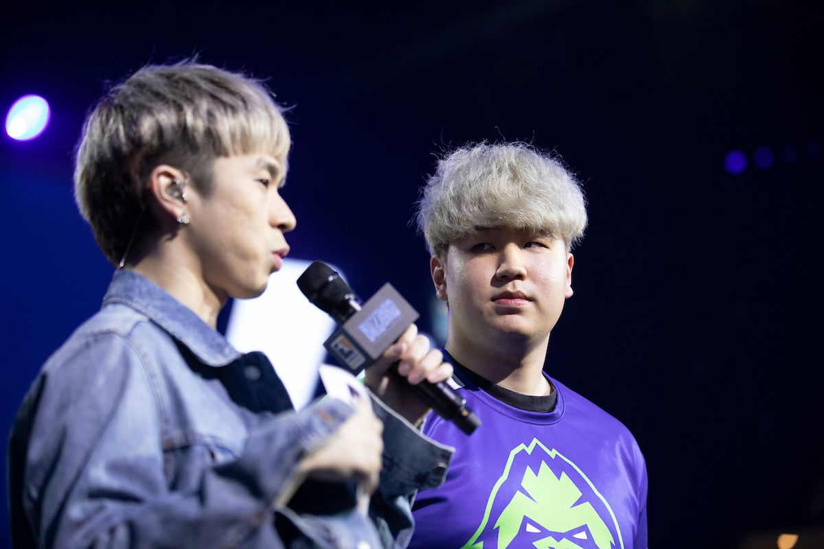 """Overwatch League - Lee """"Twilight"""" Jooseok participates in a post-match interview at the Blizzard Arena"""