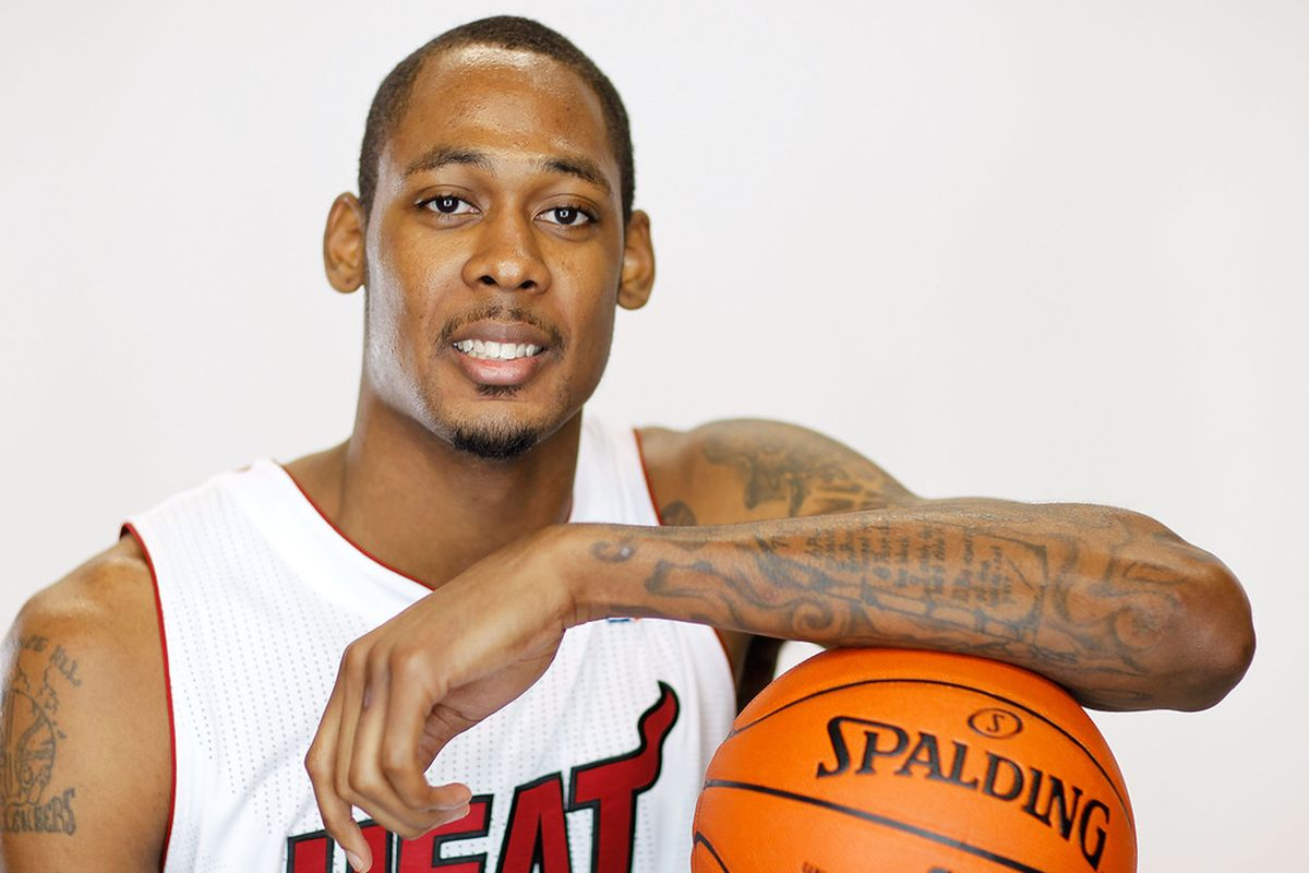 MIAMI, FL - DECEMBER 12: Mickell Gladness #32 of the Miami Heat poses during media day at American Airlines Arena on December 12, 2011 in Miami, Florida.  (Photo by Mike Ehrmann/Getty Images)