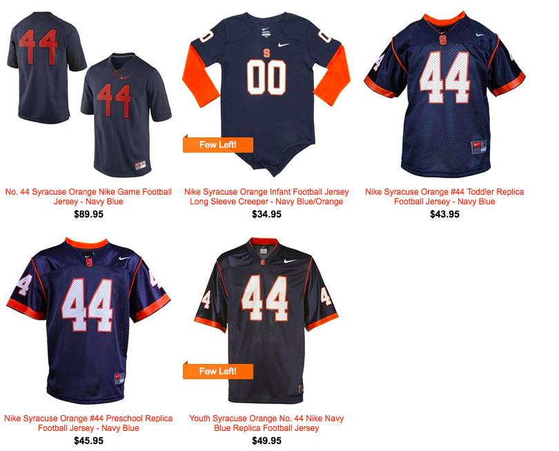 84d4b3e2c What Isn t Anyone Selling Orange Syracuse Football Jerseys  - Troy ...