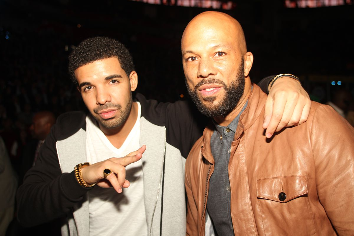 Drake and Common in 2013, post-beef. Photo: Getty Images