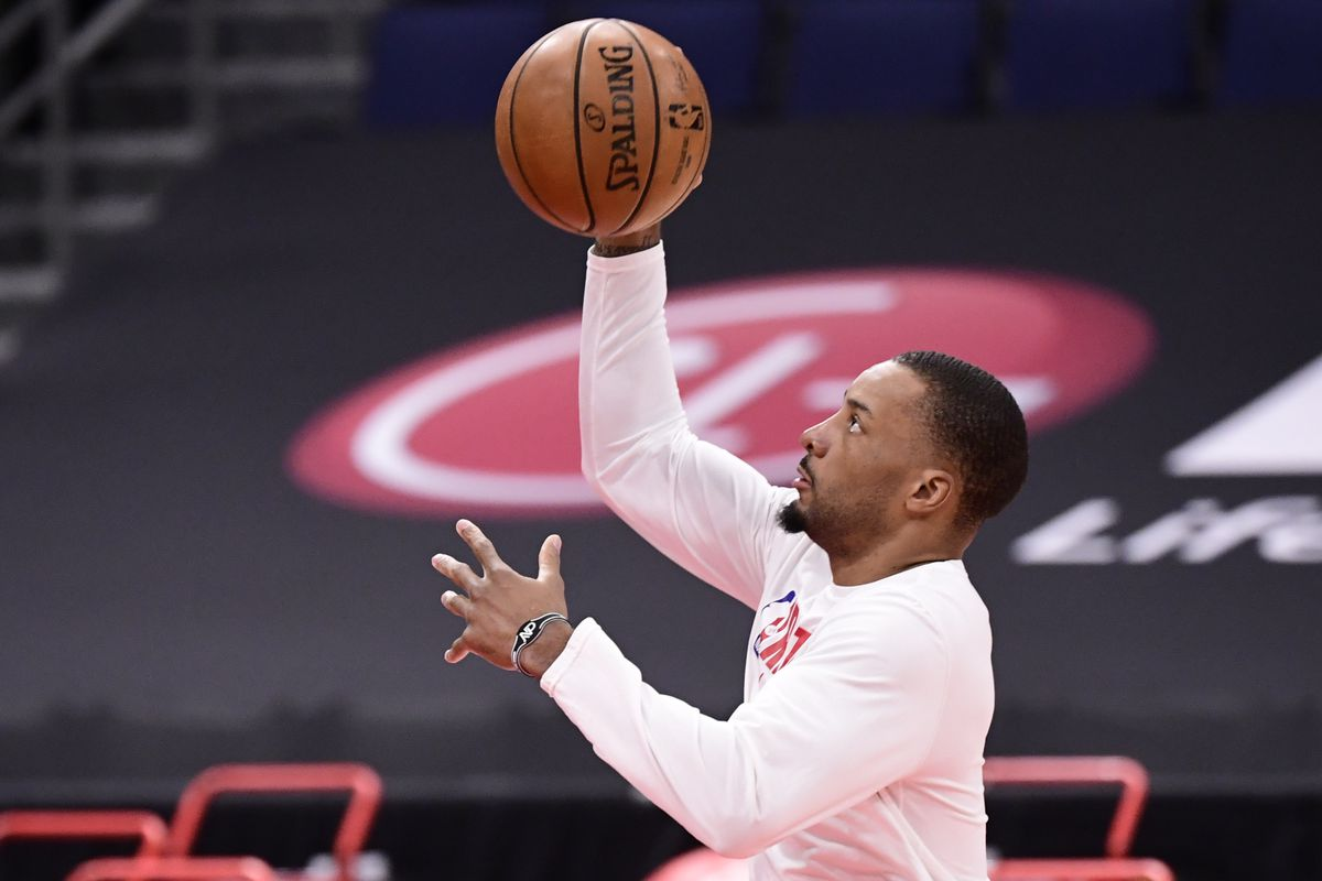 Norman Powell #24 of the Toronto Raptors warms up prior to the game between the Toronto Raptors and the Denver Nuggets at Amalie Arena on March 24, 2021 in Tampa, Florida.