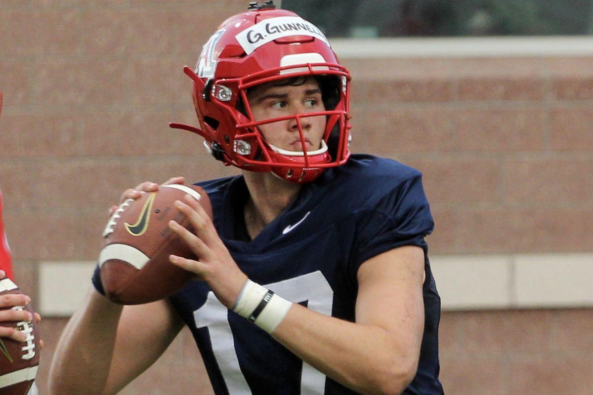 grant-gunnell-arizona-football-quarterback-way-ahead-of-the-curve-depth-chart-2019-freshman