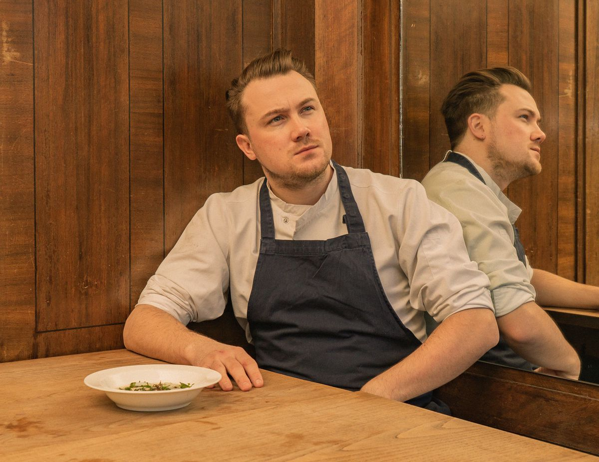 Chef Tomos Parry at Brat, Eater London's Restaurant of the Year