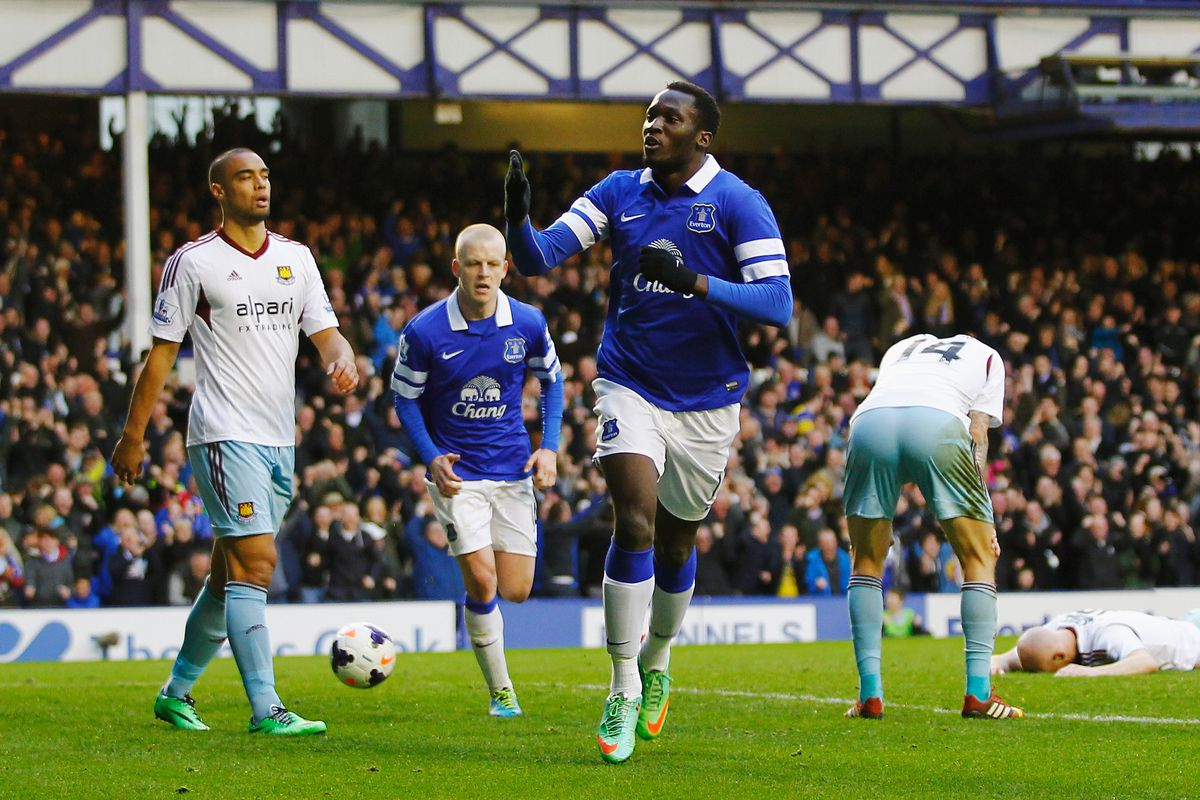 Everton's record signing Romelu Lukaku will be hoping to celebrate more goals in the new season