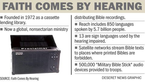 Audio Bibles reach those in remote areas of the world who