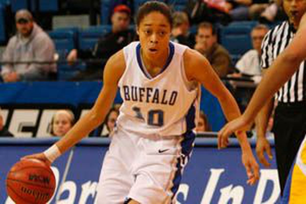 """Kourtney Brown's MAC Player of the Year Award instantly elevates her above the rest of the Bulls women. (via <a href=""""http://www.buffalonews.com/incoming/article247366.ece/BINARY/w300/brownrotator.jpg"""">www.buffalonews.com</a>)"""