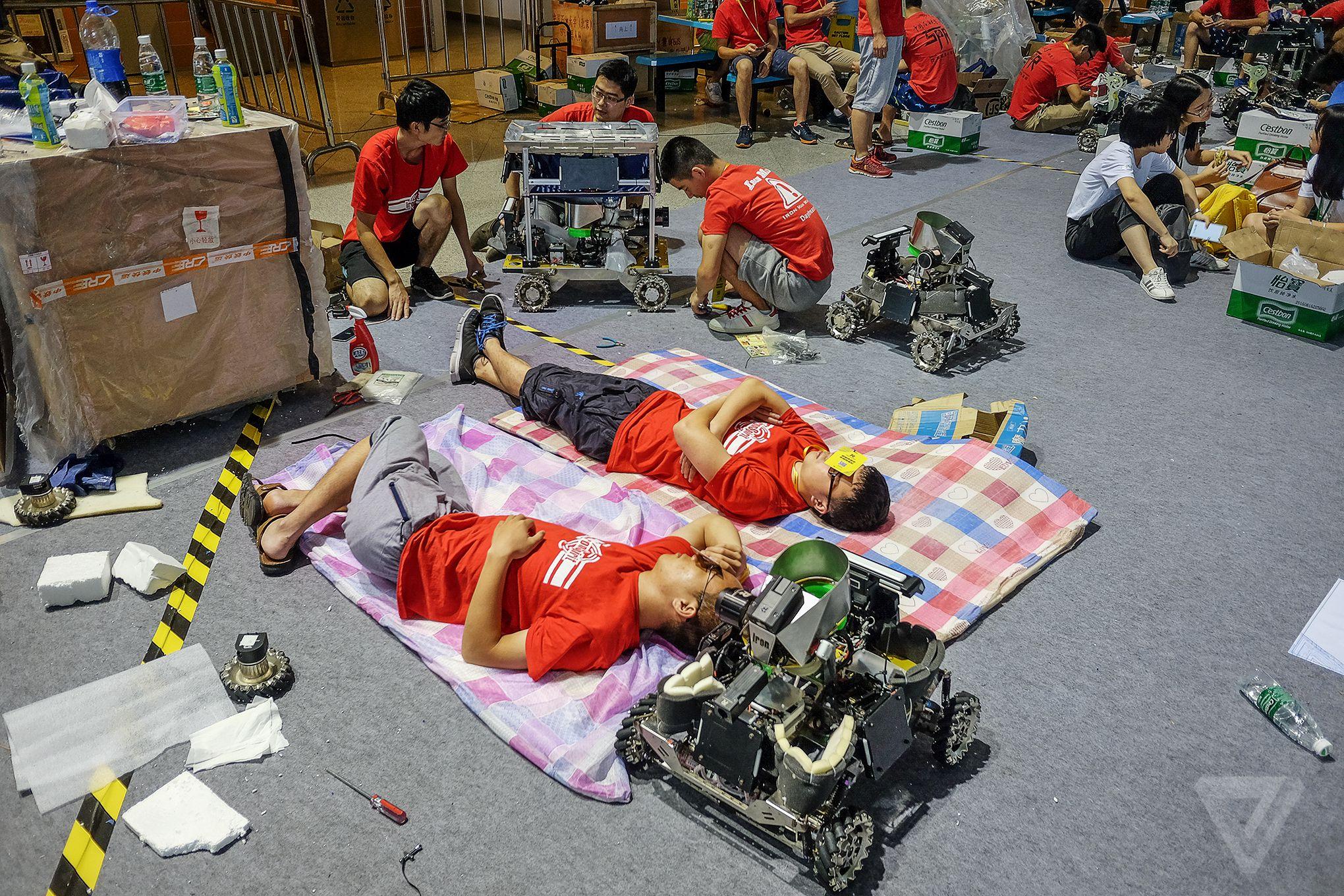 RoboMasters sleeping